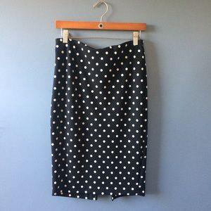 Express Polka Dot Pencil Skirt Size 8